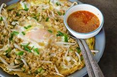 Crêpe croccante farcito pasticceria dell'uovo Fotografia Stock