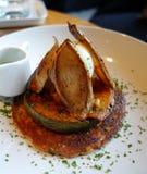 Crêpe de beurre de noix de muscade d'érable Photo stock