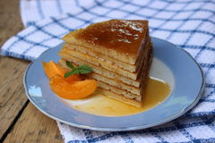 Crêpe de gâteau de tranche photo stock