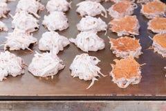Crêpe de noix de coco (dessert thaïlandais) photographie stock