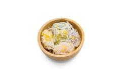 Crêpe del riso del fagiolo verde fotografie stock