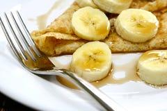 Crêpe et banane Photos libres de droits