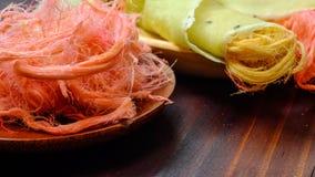 Crêpe thaïlandaise de burrito de sucrerie de coton Images stock