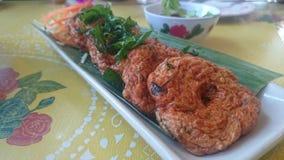 Crêpe thaïlandaise de poissons Photographie stock
