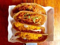 Crêpe thaïlandaise, dessert thaïlandais Images libres de droits
