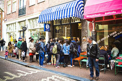 Crêpes à vieil Amsterdam Image stock
