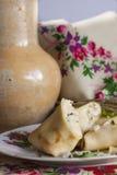 Crêpes avec le riz basmati, la zizanie et le poulet photographie stock libre de droits