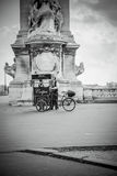 Crêpes. Crepes bicycle stand in the street of Paris Stock Photo
