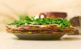 Crêpes de foie Photo libre de droits
