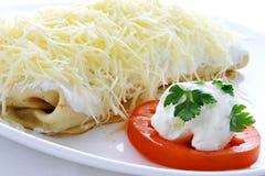 crêpes de fromage Photographie stock libre de droits