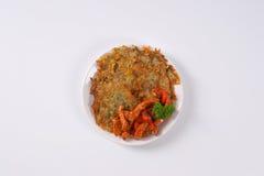 Crêpes de pomme de terre avec de la viande Images stock