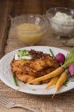 Crêpes de pomme de terre pour Hannukah : Latkes Image stock