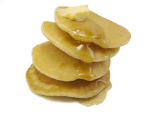 Crêpes et beurre Photos stock