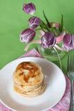 Crêpes pour le déjeuner Image stock