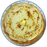 Crêpes rondes Images stock