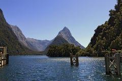 Crête célèbre de Milford Sound et de mitre Photo stock