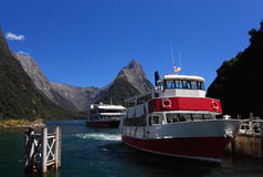 Crête célèbre de Milford Sound et de mitre Image libre de droits