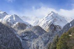 Crête couronnée de neige Photos stock