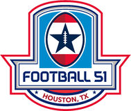 Crête d'étoiles de Houston American Football 51 rétro illustration stock