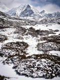 Crête d'île, également connue sous le nom d'EST d'Imja, au Népal Himalaya image stock