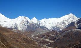 Crête d'île (EST d'Imja) - montagne s'élevante populaire au Népal Images stock