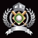Crête d'argent de diamant de base-ball Image stock