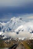 Crête d'Ushba - montagnes de Caucase Photos stock
