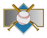 Crête de base-ball avec 'bat' Photo libre de droits