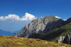 Crête de Bucsoiu - montagnes Roumanie de bucegi Photographie stock