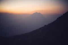 Crête de coucher du soleil Photos stock