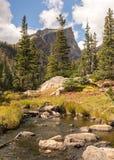 Crête de Hallett, crique de Tyndall, Rocky Mountain National Park, Co Image stock