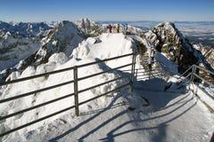 Crête de Lomnicky - haut Tatras Photos stock
