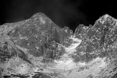 Crête de Lomnicky, haut Tatras, Slovaquie Photos stock