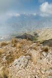 Crête de montagne à Marbella Photo stock
