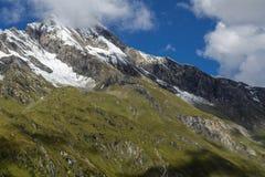 Crête de montagne au-dessus de Kaprun photo libre de droits