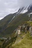 Crête de montagne au-dessus de Kaprun photographie stock