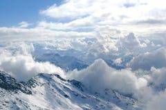 crête de montagne d'alpes photographie stock libre de droits