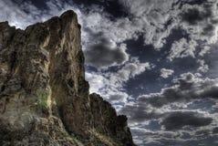Crête de montagne de désert Photographie stock