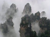 Crête de montagne de Tianzi Photographie stock