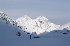 Crête de montagne en hiver Photographie stock libre de droits