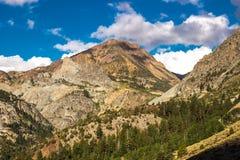 Crête de montagne en sierra Nevada Range Photographie stock libre de droits