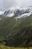 Crête de montagne près du barrage Mooserboden image libre de droits