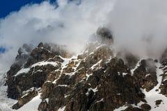 Crête de neige Photographie stock libre de droits