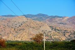 Crête de Sakesar en montagne de chaîne de sel Image libre de droits