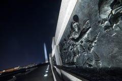 Crête de soldats au mémorial de WWII Photographie stock libre de droits
