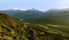 Crête de vallée et de neige Photo libre de droits
