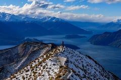 Crête du ` s de Roy couverte de neige en hiver, Wanaka, Nouvelle-Zélande photo stock