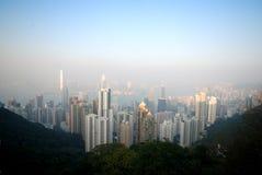 Crête Hong Kong de Victoria photographie stock libre de droits