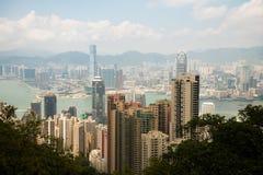 Crête Hong Kong de Victoria de forme de vue photographie stock