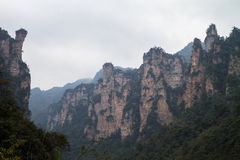 Crêtes à Zhangjiajie Photo stock